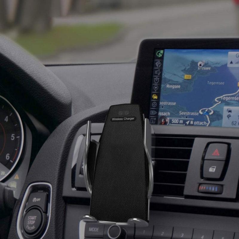 هولدر و شارژر وایرلس هوشمند wuw Smart Sensor car wireless charger holder|w08