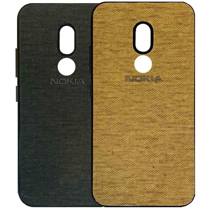 قاب محافظ طرح پارچه نوکیا Slim Siliocone Cloth Pattern Case   Nokia 3.2