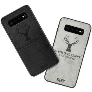 قاب گوزنی طرح پارچه سامسونگ Vintage ShockProof Deer Cover | Galaxy S10 Plus