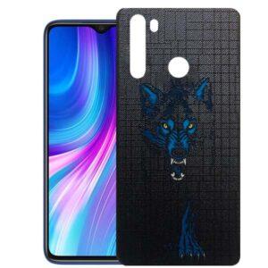 قاب طرحدار شیائومی Matte Designed Wolf Case | Redmi Note 8