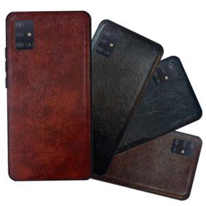 قاب براق چرمی سامسونگ Shine PU Leather Case | Galaxy A71
