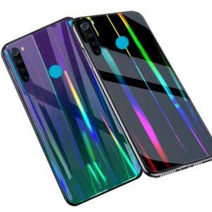 قاب شیشه ای لیزری شیائومی Luxury Gradient Laser Case | Redmi Note 8