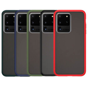قاب دودی بامپر هیبرید سامسونگ Matte Hybrid Case | Galaxy S20 Ultra