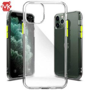 قاب شفاف دکمه رنگی Crystal Case | iphone 11 Pro Max