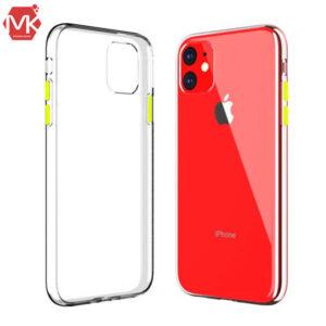 قاب شفاف دکمه رنگی آیفون Crystal Clear Case | iphone 11