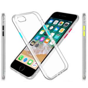 قاب محافظ دکمه رنگی آیفون Liquid Crystal Case | iphone 6 | 6s