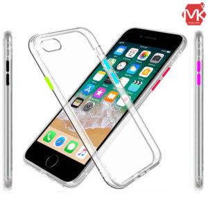 قاب شفاف دکمه رنگی آیفون Liquid Crystal Cover | iphone 8 | 7
