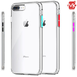 قاب دکمه رنگی آیفون Ultra Slip Transparent Case | iphone 8 Plus | 7 Plus