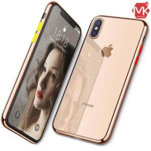 قاب محافظ دکمه رنگی آیفون Liquid Crystal Case | iphone XS Max