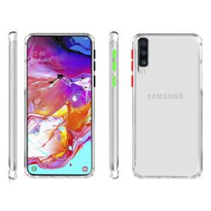 قاب دکمه رنگی سامسونگ Shockproof Crystal Case | Galaxy A70 | A70s