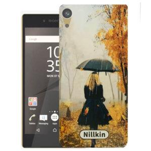 قاب طرح پاییز سونی Rainy Autumn Cover | Xperia Z5 Premium