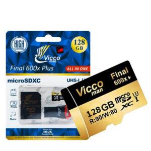 کارت حافظه + رم ریدر Vicco Man All in One 128GB U3 90MB/s