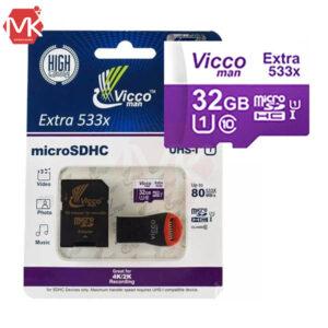 کارت حافظه Vicco Man Micro SDHC 32GB C10 Extreme 600X Plus