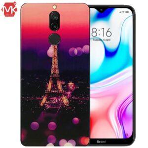 قاب سرامیک ایفل شیائومی Painted UV Eiffel Case | Redmi 8