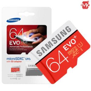 رم میکرو اس دی سامسونگ Samsung EVO+ Micro SDXC 64GB