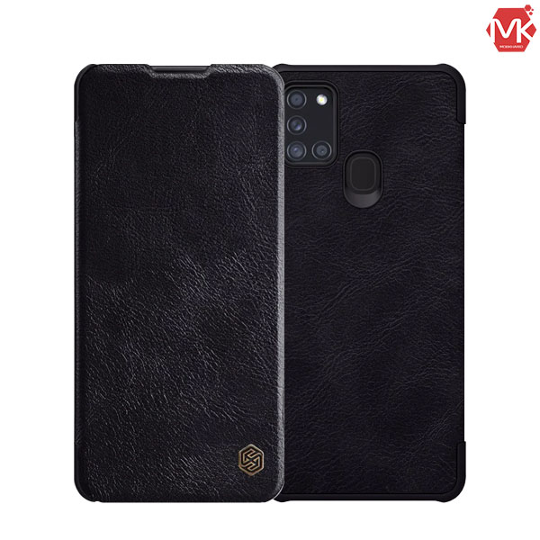 کیف چرم سامسونگ Nillkin Leather Qin Cover | Galaxy A21s
