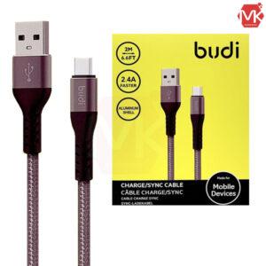 کابل شارژ میکرو یو اس بی Budi Micro USB Cable | M8J197M