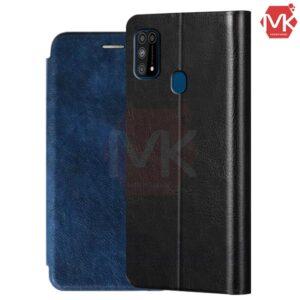 کیف محافظ سامسونگ Leather Filp Cover | Galaxy M31