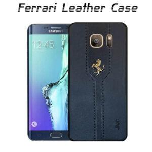 قاب محافظ سامسونگ Ferrari Leather Case | S6 Edge Plus