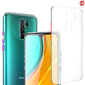 قاب دکمه رنگی شیائومی Transparent Crystal Case | Redmi 9