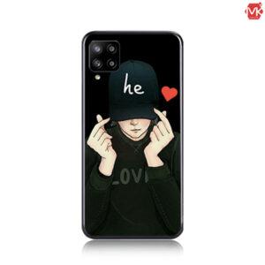 قاب محافظ سیلیکون Designed He Love Case | Galaxy A42
