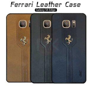 قاب محافظ سامسونگ Leather Ferrari Case   Galaxy S6 Edge