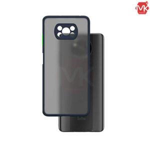 قاب پشت مات + محافظ لنز شیائومی Hybrid Case | Poco X3 NFC