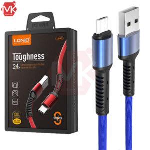 کابل فست شارژ و دیتا الدینیو LDNIO LS63 Micro USB Charging Cable