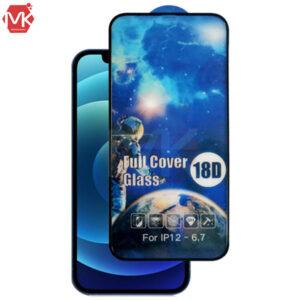محافظ صفحه ایربگ دار آیفون 18D Full Cover Glass   iphone 12 Pro Max