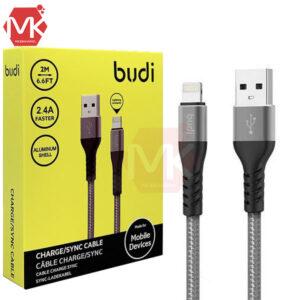 کابل شارژ لایتنینگ آیفون Budi 2M Charge Sync Lightning Cable | M8J197L
