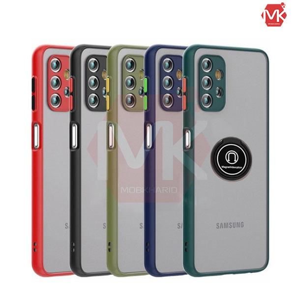 قاب محافظ سامسونگ Metal Ring Matte Hybrid Case | Galaxy A32 4G