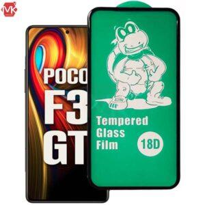 محافظ صفحه ایربگ دار شیائومی 18D Full Cover Glass   Poco F3   Mi 11i