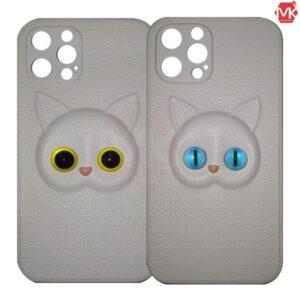 قاب فانتزی آیفون White Cute Cat Case | iphone 12 Pro
