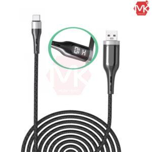کابل شارژ تایمردار تایپ-سی موکسوم Moxom MX-CB39 Type-C LCD Timing Cable